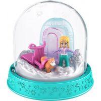 Polly Pocket sněhová koule tyrkysová
