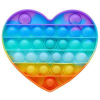 Pop it hra mix duhový Srdce