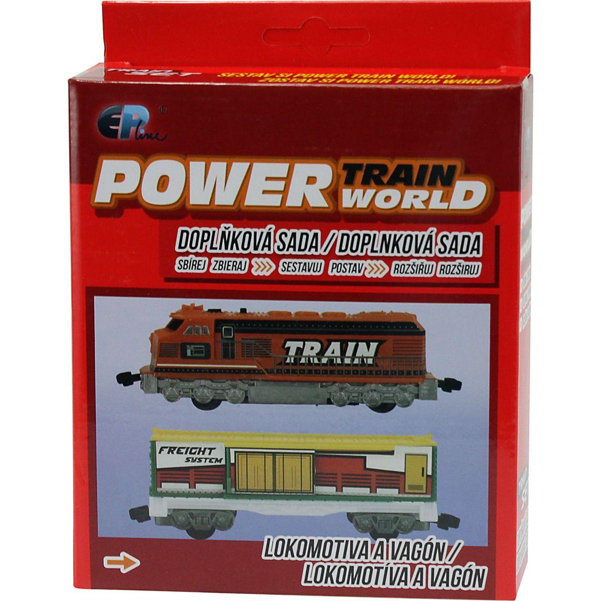 Power Train World Lokomotiva a vagón