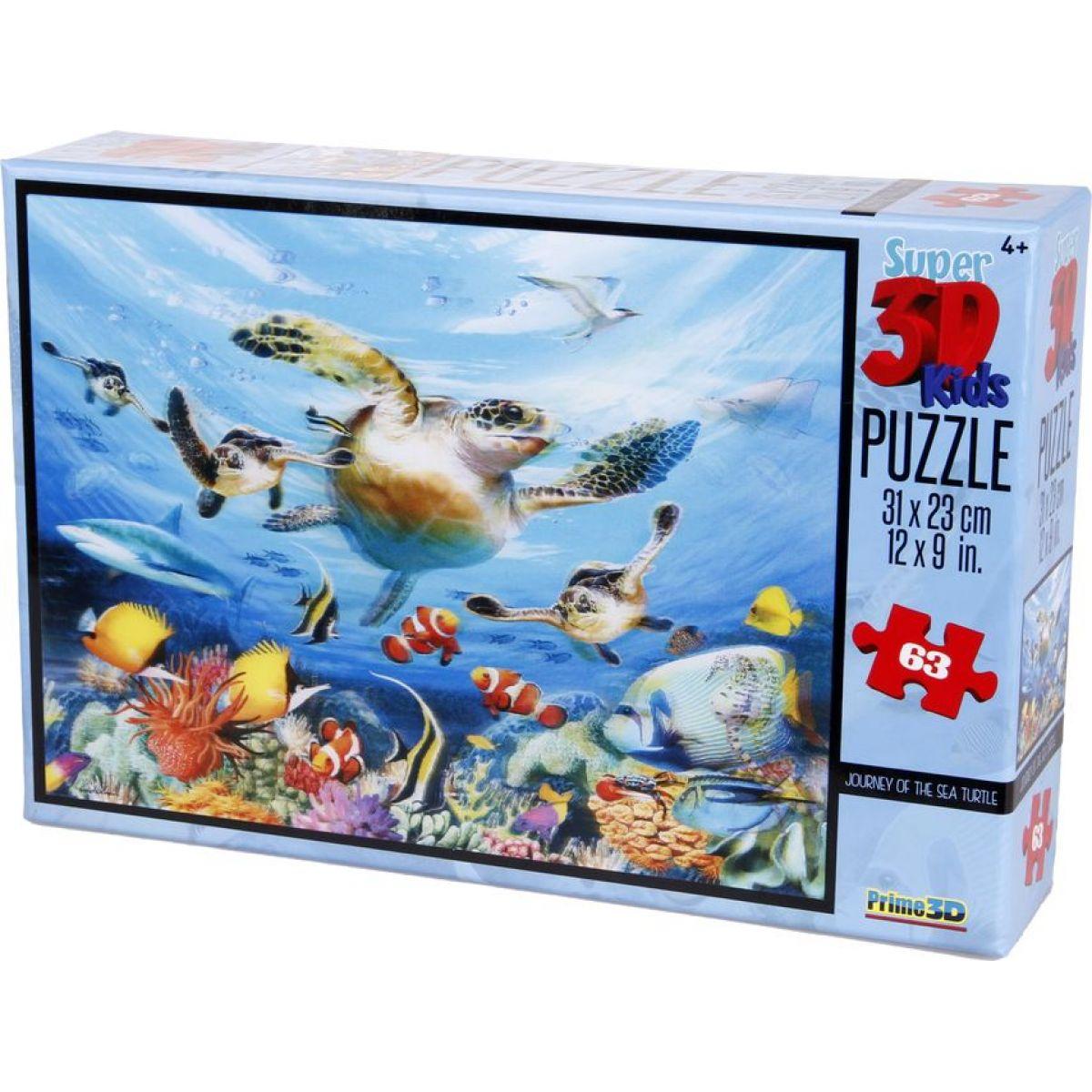 Prime 3D Puzzle Kids Želvy 63 dílků