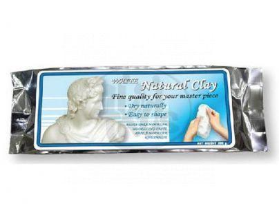 HM Studio 22KC-01-W - Přírodní hlína v hliníkové fólii 500 g, bílá