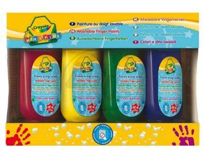 Crayola Mini Kids Prstové barvy 4ks