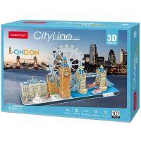 CubicFun Puzzle 3D City Line Londýn 107 dílků