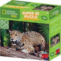 Prime 3D Puzzle 3D jaguár 100 dílků