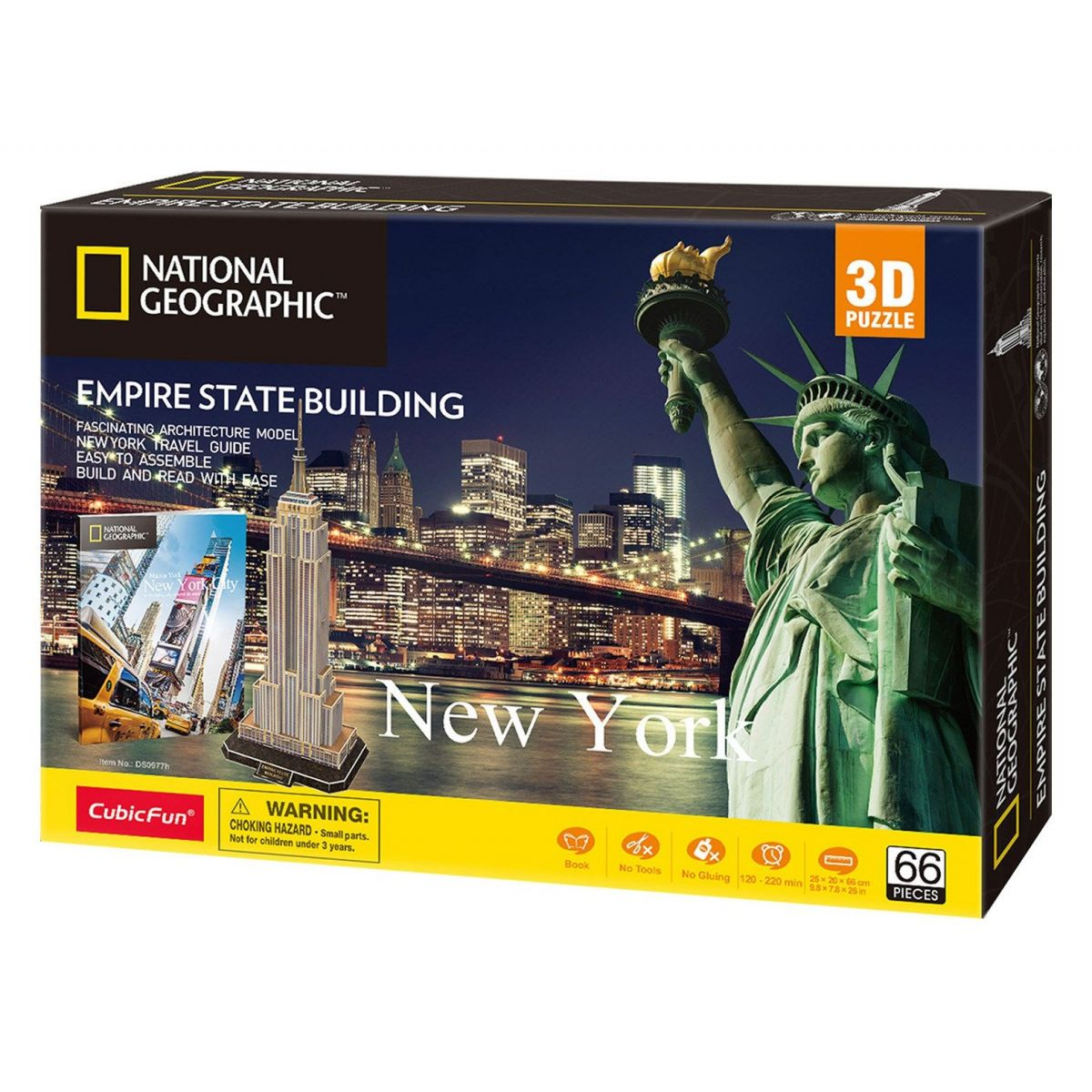 CubicFun Puzzle 3D National Geographic Empire State Building 66 dílků