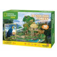 CubicFun Puzzle 3D National Geographic Kids Amazonský deštný prales 67 dílků