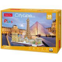 Cubic Fun Puzzle 3D Paříž 114 dílků