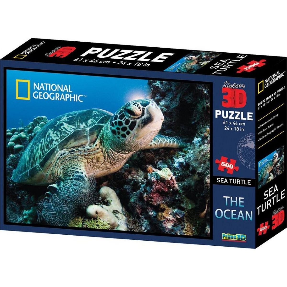 Puzzle 3D želva 500 dílků