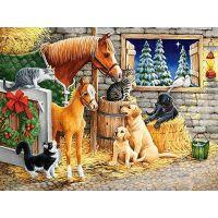 Castorland Puzzle 300 dílků Setkání přátel ve stáji