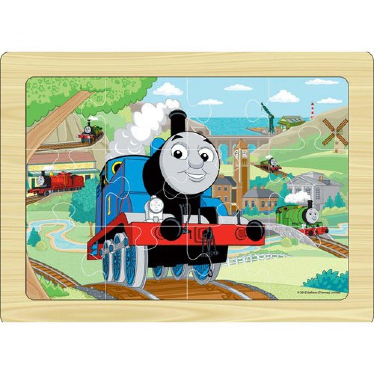 Tomáš a jeho přátelé 7215 - Puzzle dřevěné 12 ks na desce