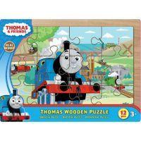 Tomáš a jeho přátelé 7215 - Puzzle dřevěné 12 ks na desce 2