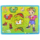 Puzzle dřevo oblékání kluk 2