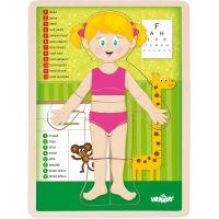 Woody Puzzle Lidské tělo Holka CZ