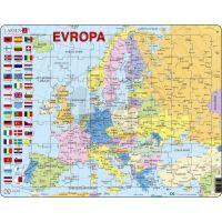 Larsen 22102 - Výukové puzzle Mapa Evropy (na šířku)
