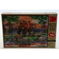 Prime 3D Puzzle Medvědi 500 dílků 3D