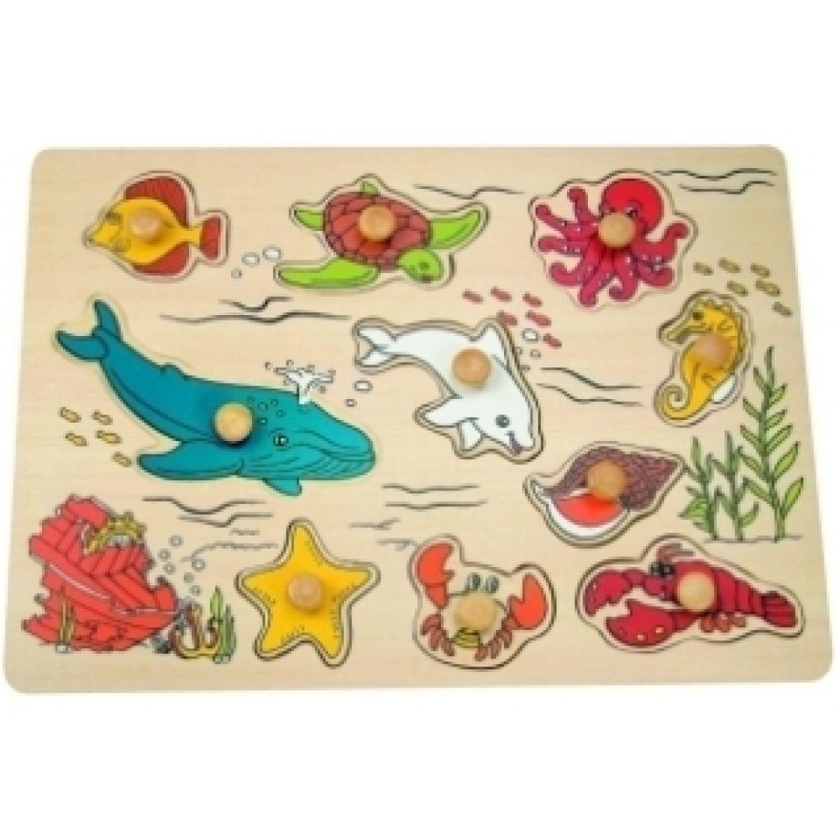 """Puzzle na desce """"Mořští živočichové"""" Woody"""