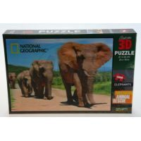 Prime 3D Puzzle Sloni 500 dílků 3D