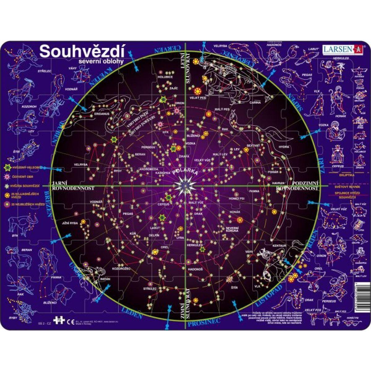 Larsen Souhvězdí severní oblohy 70 dílků