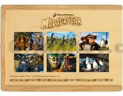 Puzzle v krabičce MADAGASKAR 72d