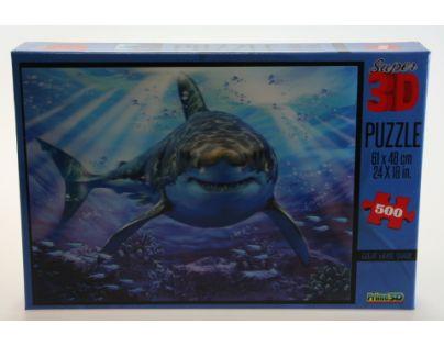 Prime 3D Puzzle Žralok 500 dílků 3D