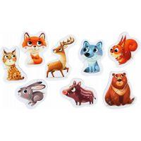 Puzzlika Lesní zvířátka naučné puzzle 8 zvířátek 16 dílků