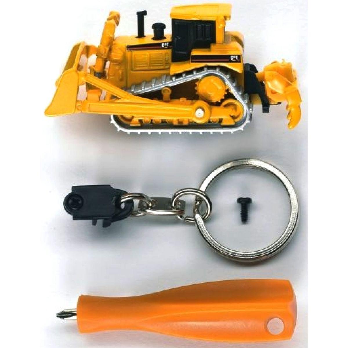 BRUDER 00500 - Přívěsek CATERPILLAR buldozer + šroubovák