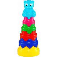 Toy Pyramida skládací věž velká plastová