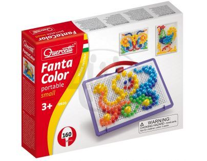 Quercetti 0920 - Mozaika Fantacolors Portable 160 ks