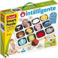 Quercetti Smart Puzzle magnetico first colors and words magnetická skládačka