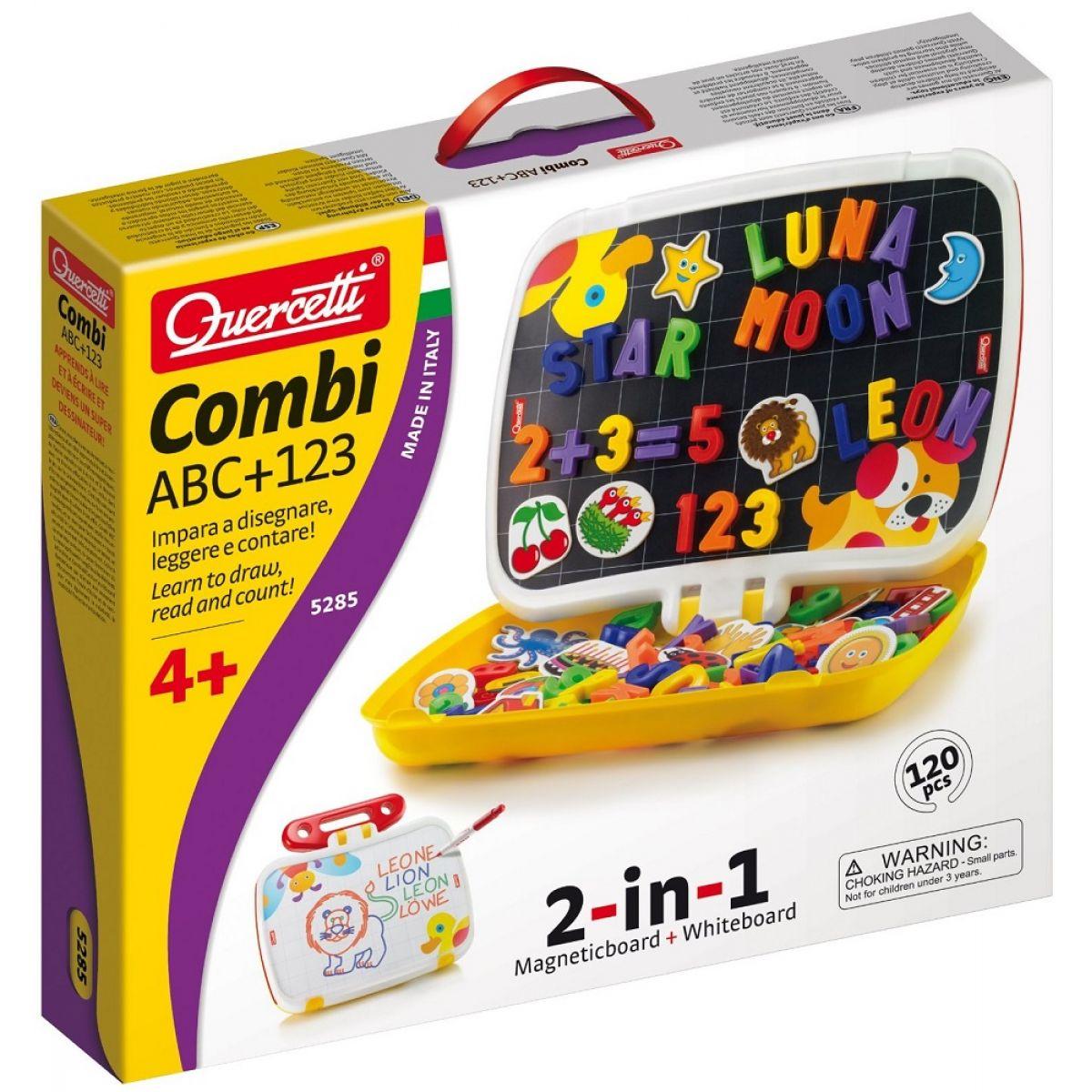 Quercetti Tabule v kufříku Combi ABC + 123