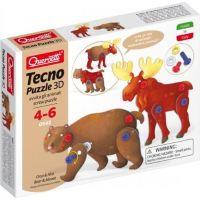 Quercetti Tecno Puzzle 3D medvěd a los