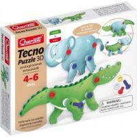 Quercetti Tecno Puzzle 3D slon a krokodýl