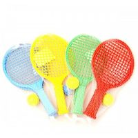 Toy Raketa plážová malá soft tenis barevný