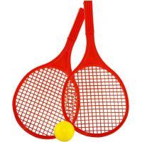 Toy Raketa plážová střední soft tenis barevný červená