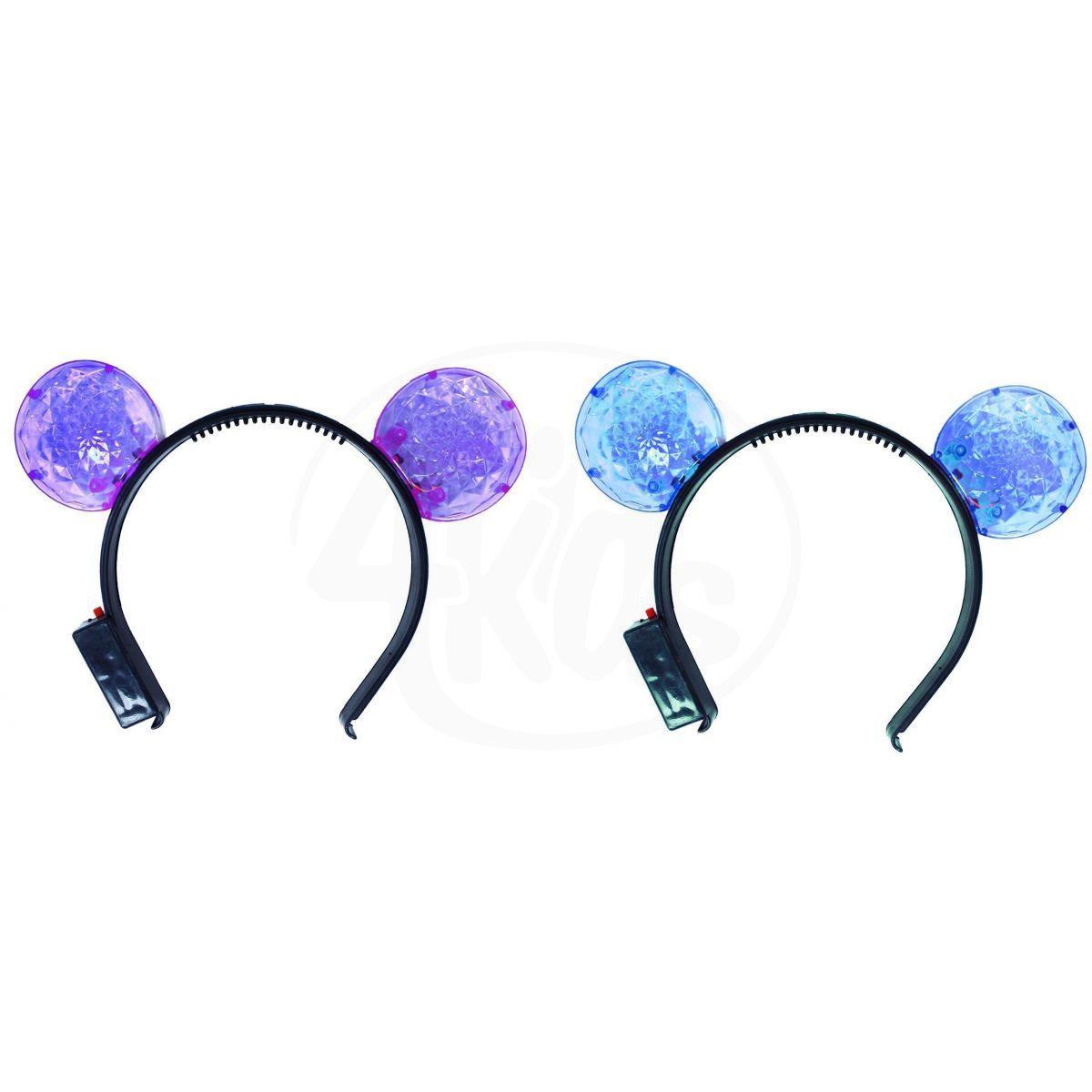 Rappa Čelenka svítící uši - fialové d241d9335c