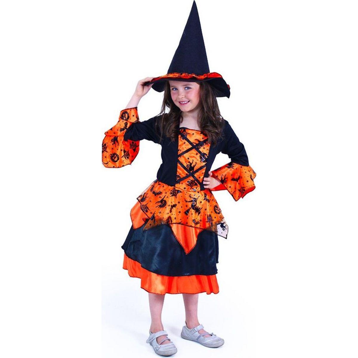 Rappa Detský kostým čarodejnice veľkosť M