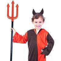Rappa Dětský kostým čert s rohy velikost S 2