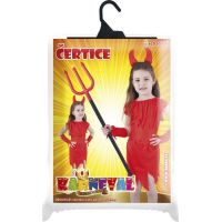 Rappa Dětský kostým čertice s rohy velikost S 4
