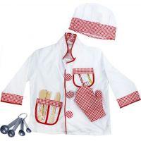Rappa Dětský kostým kuchař s doplňky velikost S