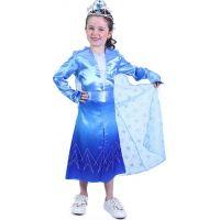 Rappa Dětský kostým modrý zimní princezna vel. M