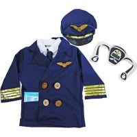 Rappa Dětský kostým pilot velikost S