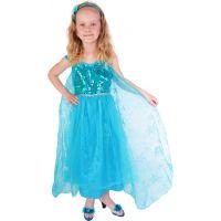 Rappa Detský kostým princezná zimné kráľovstvo Eliška DeLuxe veľkosť M