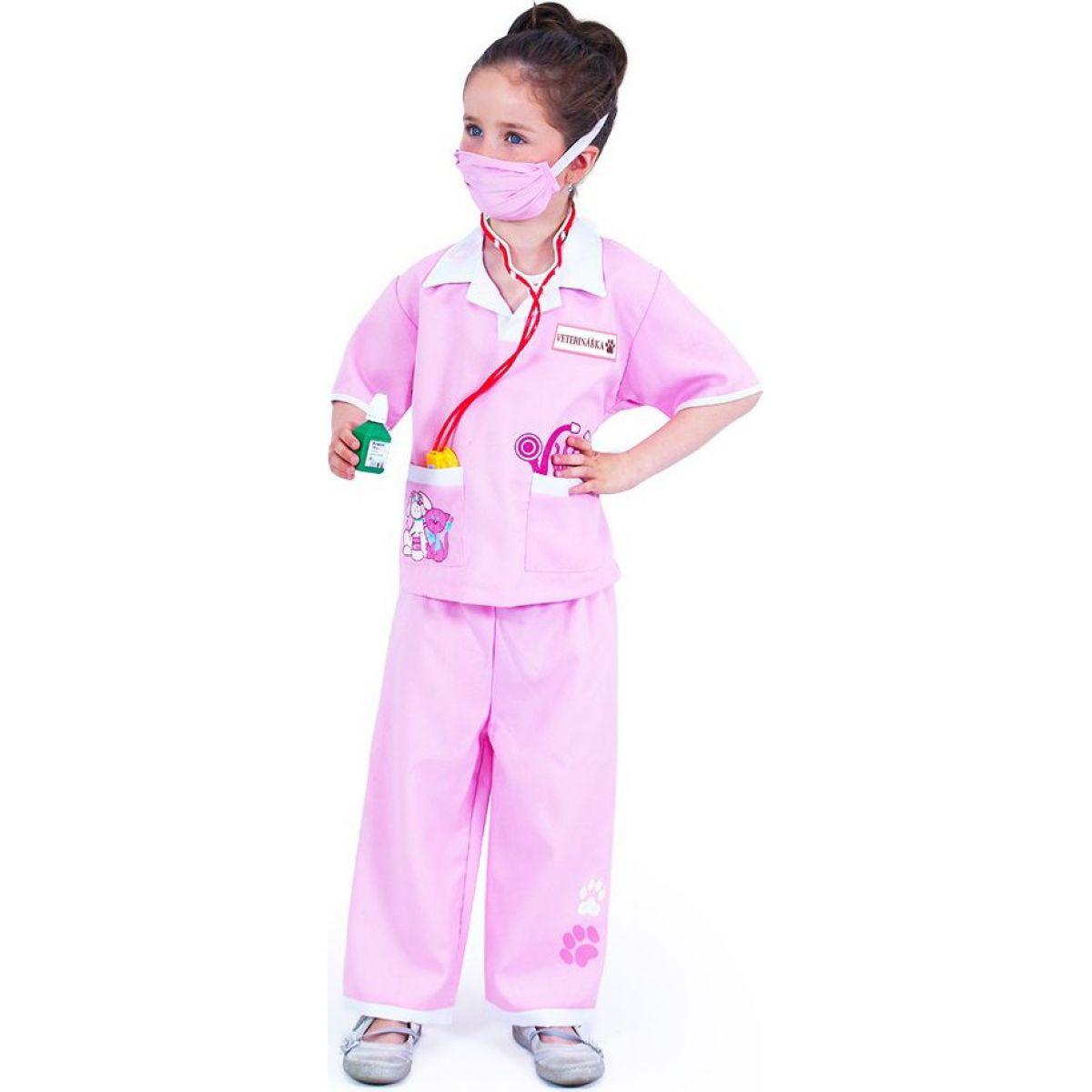 Rappa Dětský kostým veterinářka velikost M