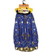 Rappa Detský čarodejnícky modrý plášť s hviezdami čarodejnice
