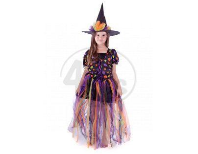 Rappa Dětský kostým Čarodějnice s dlouhou sukní vel. S