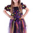 Rappa Dětský kostým Čarodějnice s dlouhou sukní vel. S 4