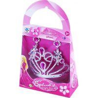 Rappa Korunka princezny s náušnicami Strieborná s ružovými kamienkami