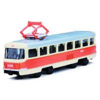 Rappa Kovová tramvaj 16 cm na zpětný chod
