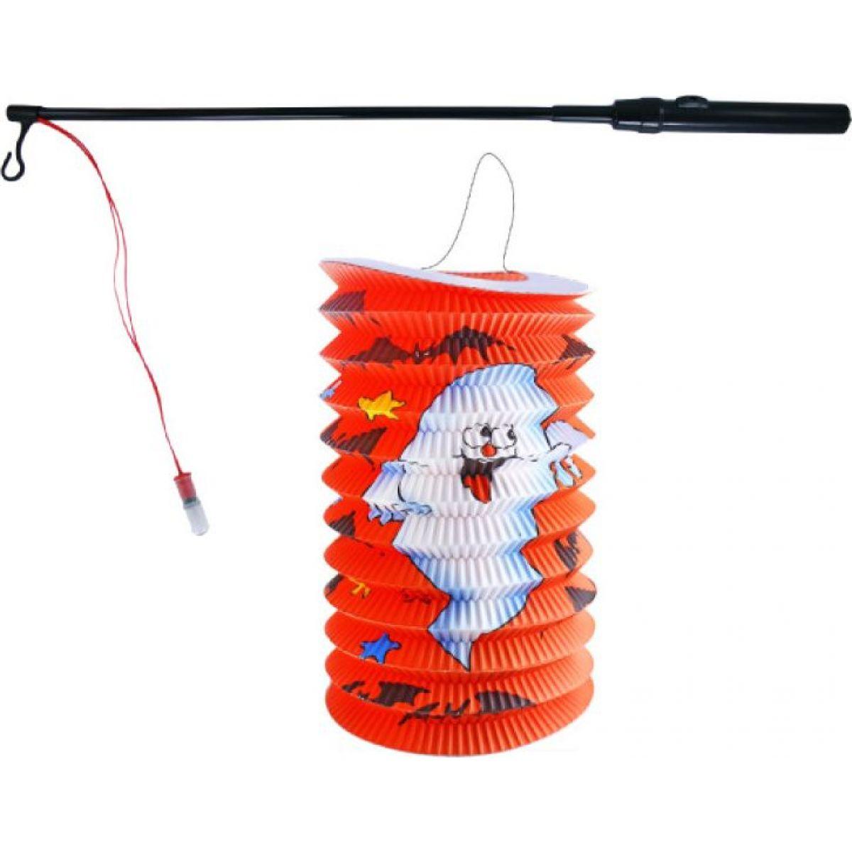 Rappa Lampion Halloween 15 cm se svítící hůlkou
