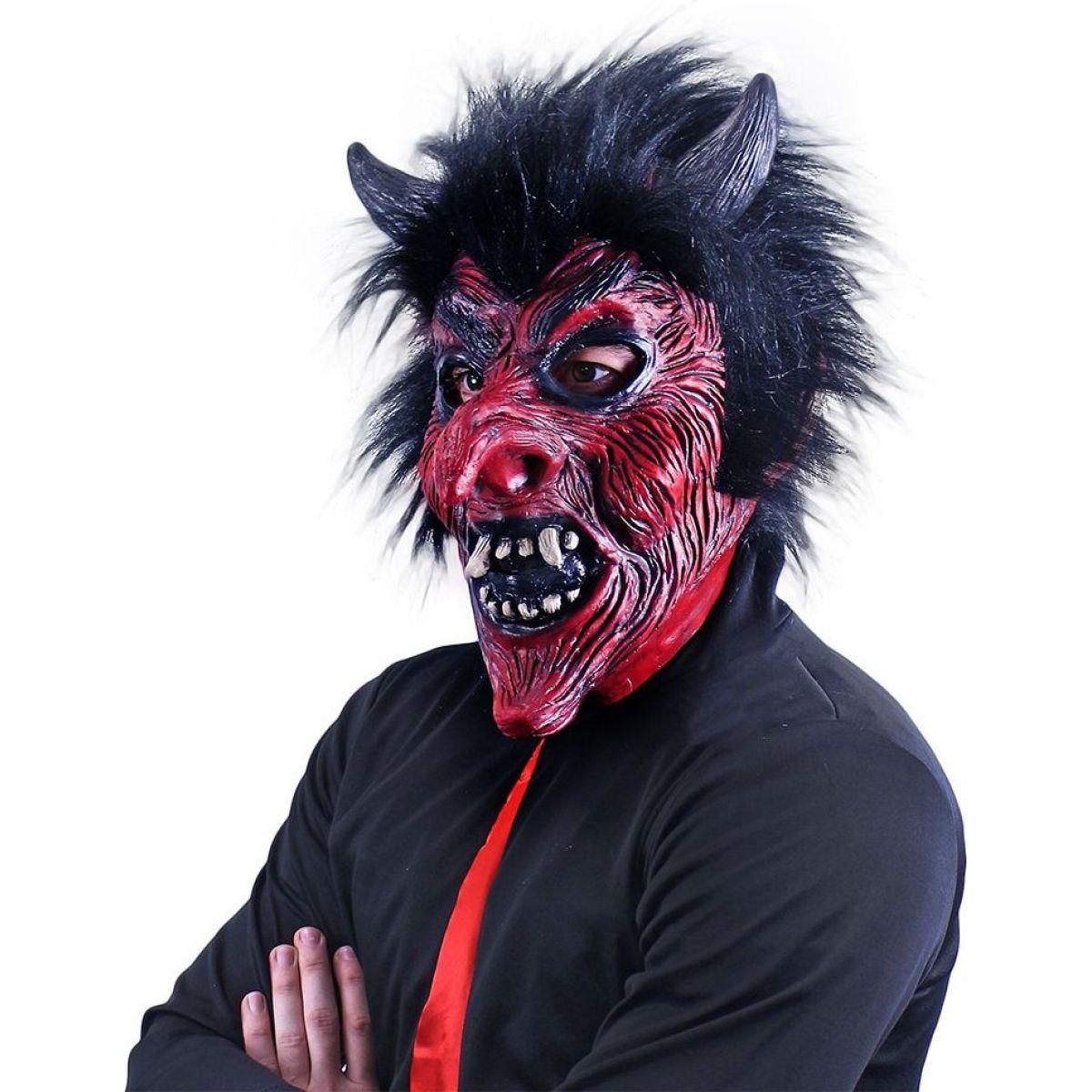 Rappa Maska čert s vlasy velká